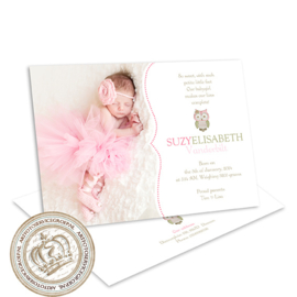 Foto Geboortekaartje LG250 Pink