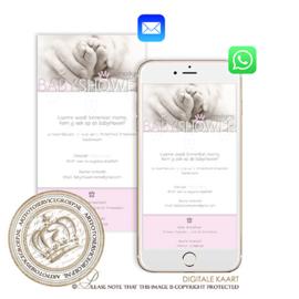 Digitale Babyshower kaart BS010 Pink