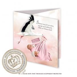 Sprookjes Geboortekaartje GB759 FC3 Pink