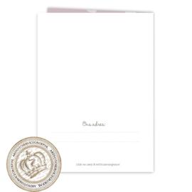 Invul Geboortekaartjes FS267 Pink (12 gevouwen kaarten)