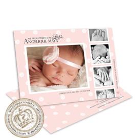 Foto Geboortekaartje LG036 Pink