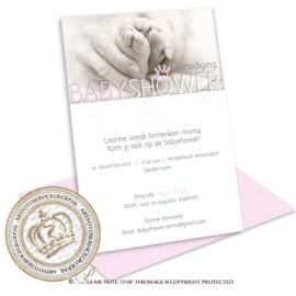 Babyshower kaart BS010 Pink