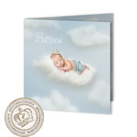 Sprookjes Geboortekaartje GB457 FC2 Blue