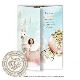 Sprookjes Geboortekaartje GB643 ( A winter`s tale) Pink