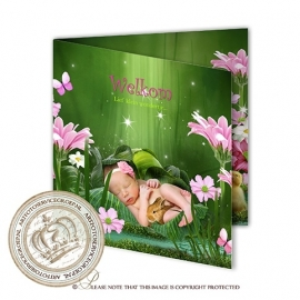 Sprookjes Geboortekaartje GB605 FC2 Pink