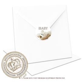 Sluitzegel Geboortekaartje SLZ008
