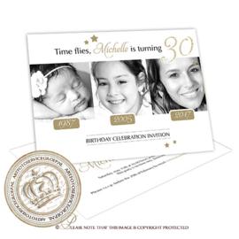 Then & Now: Verjaardag Uitnodiging BC674