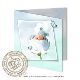 Sprookjes Geboortekaartje GB298 FC2 Blue