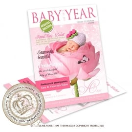 Baby Magazine Cover GB387 Pink