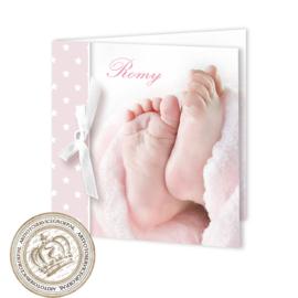 Geboortekaartje LC201 FC2 Pink