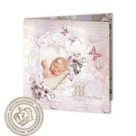 Sprookjes Geboortekaartje GB006 FC2 Pink