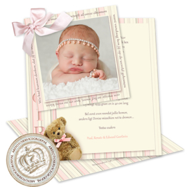 Foto Geboortekaartje LG201 DS Pink