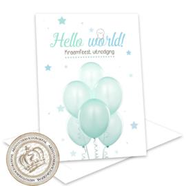 Babyshower invites invulkaarten (pakket 12 invites)