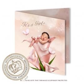 Sprookjes Geboortekaartje GB418 FC2 Pink