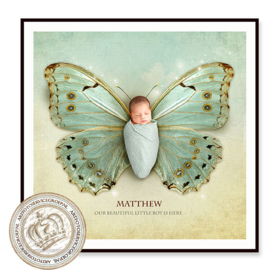 Digitale Droomfoto - Le petit Papillon (Mint Green)