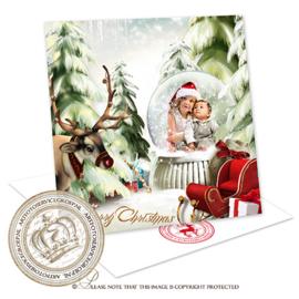 Sprookjes Kerstkaart met foto CA061