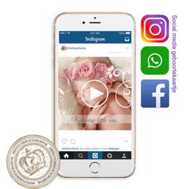 Social Media Geboortekaartje IGBL754 P