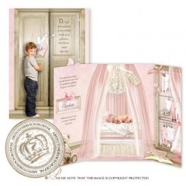 Sprookjes Geboortekaartje GB675 DD Pink-B
