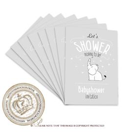 Fill & Send Babyshower uitnodigingen FBS003 (pakket 8 stuks)