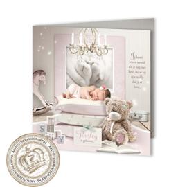 Sprookjes Geboortekaartje GB397 FC2 Pink