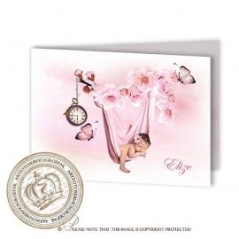 Sprookjes Geboortekaartje GB473 FC2 Pink