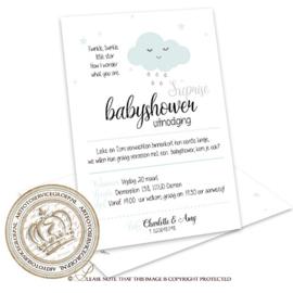 Babyshower kaart BS002