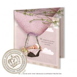 Sprookjes Geboortekaartje GB258 FC2 Pink