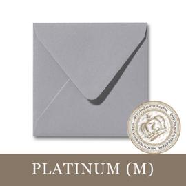 Parelmoer envelop - Platinum