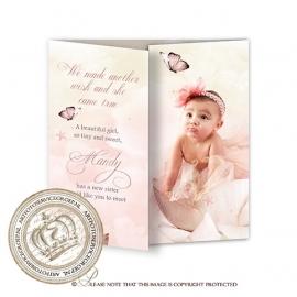 Sprookjes Geboortekaartje GB298 DD Pink