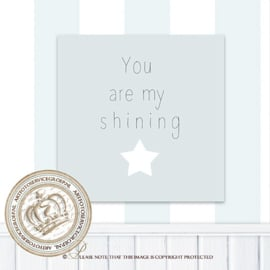 Printable poster - Shining star