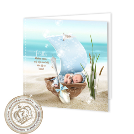 Sprookjes Geboortekaartje GB018 FC2 Blue