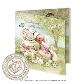 Sprookjes Geboortekaartje GB488 FC2 Pink