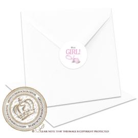 Sluitzegel Geboortekaartje SLZ003 Girl