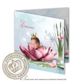 Sprookjes Geboortekaartje GB316 FC2 Pink