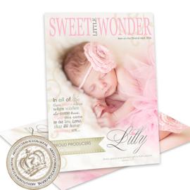Foto Geboortekaartje LG008 Pink (Magazine Cover)