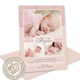 Foto Geboortekaartje LG711 Pink