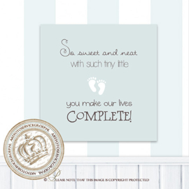 Printable poster - Little feet