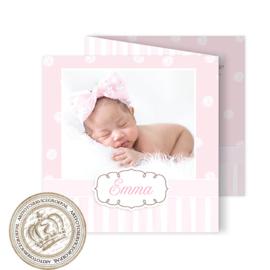 Foto Geboortekaartje LG706 FC3 Pink