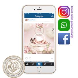 Social Media Geboortekaartje IGB268