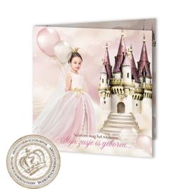 Sprookjes Geboortekaartje GB485 FC2 Pink