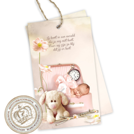 Geboortekaartje Label GBL231 Pink
