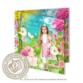 Sprookjes Geboortekaartje GB356 FC2 Pink