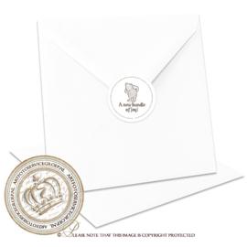 Sluitzegel Geboortekaartje SLZ014