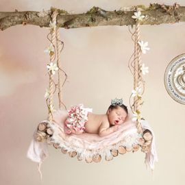 Digitale Droomfoto - The flower swing (Pink)