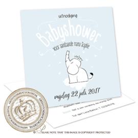 Babyshower kaart BS008
