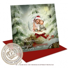 Sprookjes Kerstkaart met foto CA060