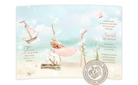 Sprookjes Geboortekaartje GB295 DD Pink
