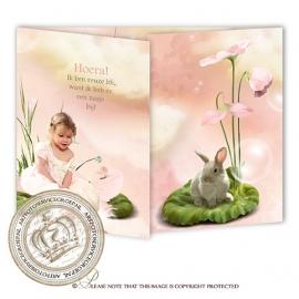 Sprookjes Geboortekaartje GB345 FC2 Pink