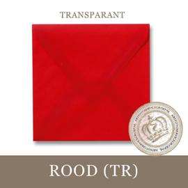 Transparante envelop - Rood