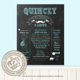 My 1st Birthday - Printable chalk board: CH063